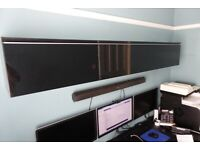 Ikea Besta Burs High Gloss Black / Silver Wall Unit for DVDs, CDs etc.