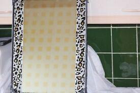 new boxed leopard print wall mirror