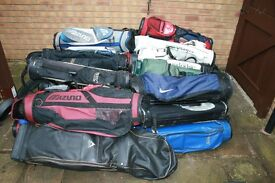 GOLF BAGS, CLUBS AND TROLLEYS