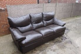 Leather Brown Recliner Sofa