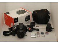 Sony Cyber-shot DSC-H400 20mp Digital Camera - + bag+ 2nd Battery + 6 mem card