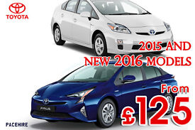 NEW and OLD shape Toyota PRIUS hire 2015 and 2016 models - rent, UBER PCO hire ready