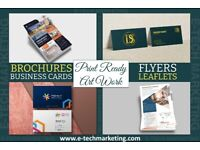 Print-Ready Artwork and Designs starting from £9.99. Logo, Business Card, Leaflet/Flyer and Brochure