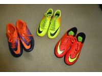 JOB LOT OF NIKE FOOTBALL BOOTS & NIKE ASTRO TURF TRAINERS SIZE UK3&4