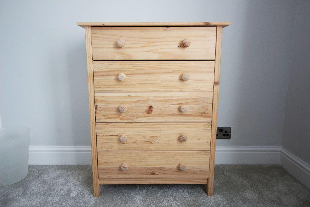 Argos scandinavia solid pine chest of 5 drawers