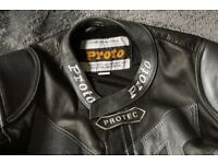 Proto Protec Mans motorcycle leathers - two piece