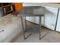 Stainless steel work/preparation tables