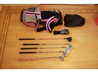 US Kids Golf Set Size 48 Pink/Silver
