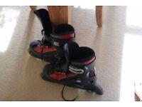 CHEAP!!! Rollerblades, Roller Blades, Inline Skates, ROCES - Size: 40, Black & Red