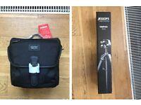 Camera bag and tripod