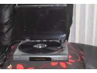 SONY LX-56 RECORD PLAYER CAN BE SEEN WORKING