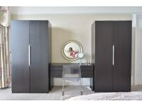 Three IKEA Pax Wardrobes with Fittings