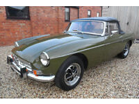 1974 MGB ROADSTER MANUAL GREEN PETROL 54K MILES