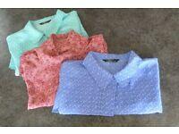 Ladies short sleeved patterned Blouses