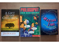 BOOK BUNDLE - Making Time, Philosophy For Beginners, A Gift To My Children