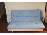 Blue Kyoto Futon Sofa Bed