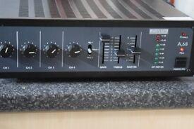 ADASTRA A-68 100W KARAOKE 2 MICIN 4 CHANNEL AMP CAN BESEEN WORKING