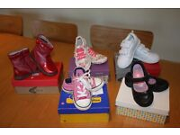 5 Pairs of really good quality girls shoes /boots and trainers