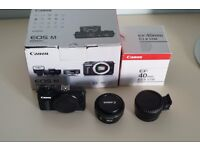 Canon EOS M Mirrorless - Black (18MP) 3.0 inch Touchscreen