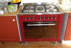 Indesit Dual Fuel range cooker - ht 850 x w 900 x depth 600 mm