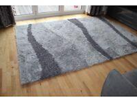 XL Grey shaggy Rug, Vibe design from Dunelm