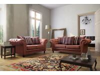 FREE DELIVERY BRAND NEW CHESTERFEILD LEATHR SOFA 3+2 SEATER