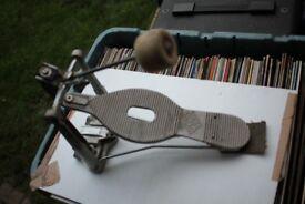 ASBA single bass drum pedal - France '60s/'70s - rare item - Vintage