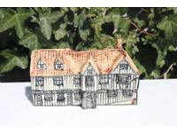Vintage Tey Pottery House Lavenham Guildhall Suffolk Britain in Minature Unusual