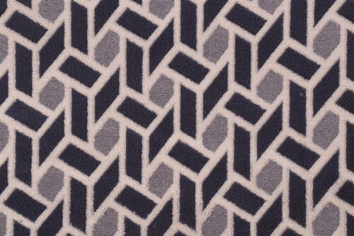 CONTEMPORARY GEOMETRIC WOVEN UPHOLSTERY FABRIC MULTI BLUE BTY