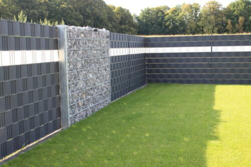 Sichtschutzzaun 50 Meter Hart Kunststoff PVC Zaun Gartenzaun in ...