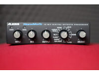 Alesis nanoverb with original power supply. reverb, delay, multi effect, studio, guitar, keyboard