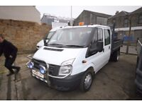 FORD TRANSIT 100 T-350 DOUBLE CAB TIPPER – 08-REG