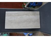 12 boxes grey marble effect, wall & floor tiles 60cm x 30cm = 12.96 sqm