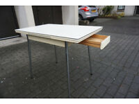 Lovely Extendable 1970's Formica Table With Draw FREE DELIVERY CENTRAL EDINBURGH