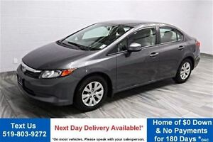 2012 Honda Civic LX POWER PACKAGE! CRUISE CONTROL! KEYLESS ENTRY