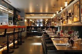 URGENT :Waitress, waiter, hostess, runner and bartender for Restaurant in Islington