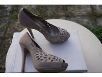 FAITH suede diamanté faun stilettos - Size 37 (4)