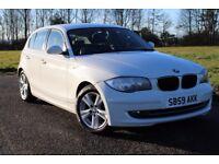 2009 59 BMW 116D 2.0 SE DIESEL MANUAL 5 DOOR HATCHBACK ALPINE WHITE