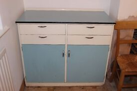 Retro mid-century kitchen unit
