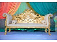 WEDDING THRONE SOFA £120