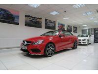 MERCEDES-BENZ E CLASS 2.1 E220 CDI AMG Sport Cabriolet 7G-Tronic Plus 2dr Auto (red) 2014