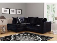 COLOURS OPTION AVAILABLE ** Brand New *** Byron Corner Sofa / 3 + 2 Seater Sofa Same Day Delivery
