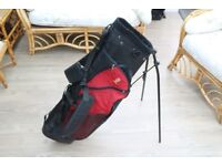Seal light weight golf carry bag (red and black)
