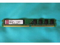 1 GB DDR2 KTH-XW4300 memory by Kingston (2 available)