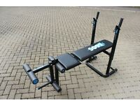 York 6605 adjustable weights bench with leg extension attachment
