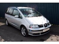LOW MILEAGE SEAT ALHAMBRA TDI 6 SPEED ONLY £40 PER WEEK ON FINANCE !!