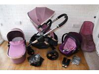 iCandy Peach 3 pram travel system 3 in 1 - Pink Marshmallow ***can post***
