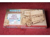 BRAND NEW Hobby's Matchbuilder 1920s Veteran Omnibus Kit - Ideal Christmas Gift!