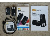 Pixel Pawn TF-364 Wireless Camera Shutter Remote Release and Flash Trigger Function.