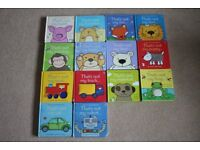 "Usbourne ""Thats not my"" touchy feely baby and toddler books bundle - 14 books"